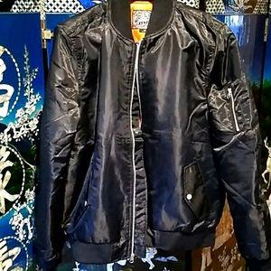 Brand New Men's Black Bomber Jacket Brooklyn Cloth